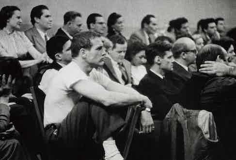 Paul Newman at Lee Strasberg's Studio, New York, 1955 (Image Source: phillips.com)