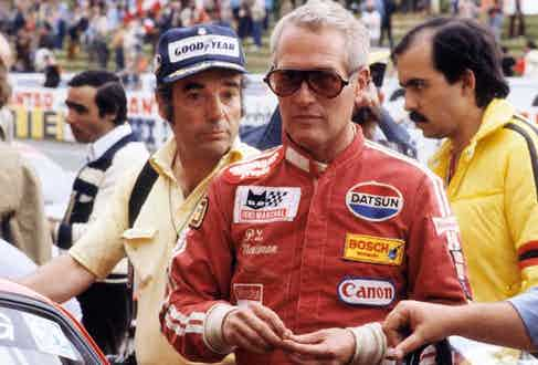 LE MANS, FRANCE 1979: Paul Newman attends the 24hr Grand Prix, circa 1979 in Le Mans, France. (Photo by Michel Dufour/WireImage)