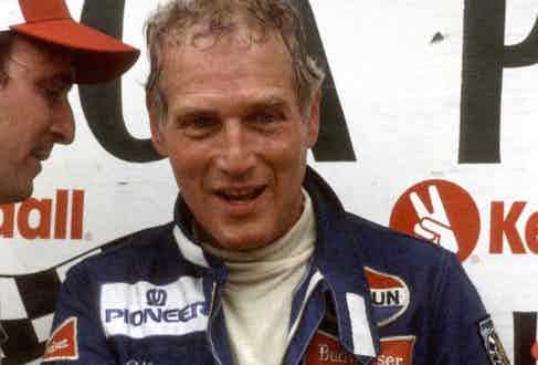 Paul Newman at Limerock Racetrack for the Kendall Cup Nationals - July 3, 1982 (Photo by Ron Galella/WireImage)