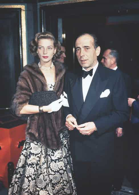 The stylish Lauren Bacall and Humphrey Bogart. Image © Sunset Boulevard/Corbis