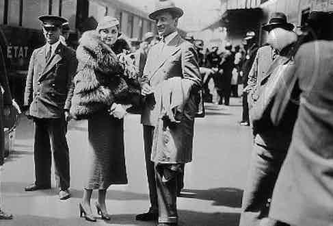 Bara=bara Hutton with second husband, Count Kurt von Haugwitz-Reventlow