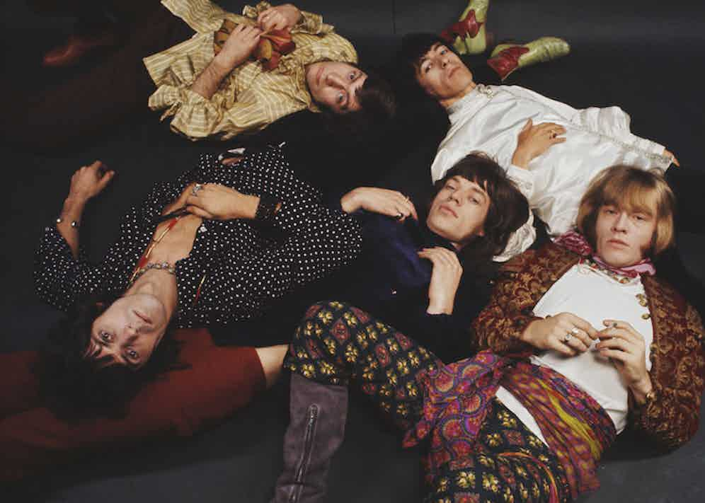 The Rolling Stones, 1968. Clockwise from top left: Charlie Watts, Bill Wyman, Brian Jones, Mick Jagger and Keith Richards. Photograph by Mark and Colleen Hayward/Redferns.