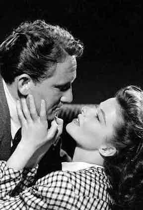 Katharine Hepburn and Spencer Tracy'in the film 'Woman Of The Year', 1942. Photo by Metro-Goldwyn-Mayer/Getty Images.