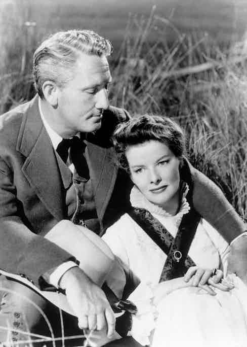 Hepburn and Spencer in 1947. Photo by Ullstein Bild via Getty Images.