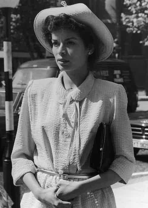 Bianca Jagger heads for the High Court in London, to continue her divorce hearing with Mick Jagger, 1979. Photograph courtesy of Central Press/Hulton Archive/Getty Images.