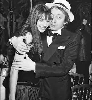 Serge Gainsbourg and Jane Birkin celebrate New Year's Eve