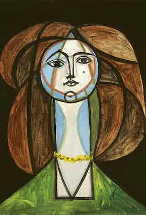 Pablo Picasso, Femme Au Collier Jaune, 1946. Private Collection © Picasso Estate/SODRAC (2016) Photo by Patrick Goetelen.