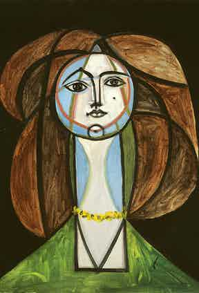 Pablo Picasso, Femme Au Collier Jaune, 1946. Private Collection © Picasso Estate/SODRAC (2016) Photo by Patrick Goetelen.