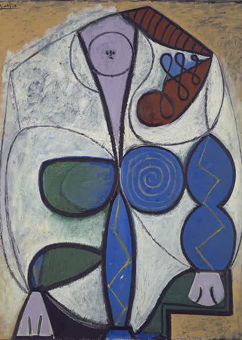 Pablo Picasso, Femme Assise,1947. Yale University Art Gallery, Katherine Ordway Collection © Picasso Estate/SODRAC (2016).