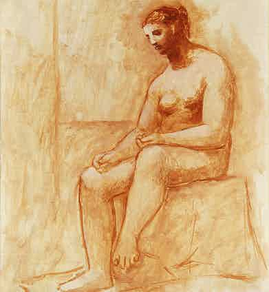 Pablo Picasso, Seated Nude, 1922.