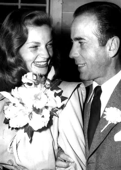 Lauren Bacall and Humphrey Bogart, 1945. Photo by C.Everett/REX