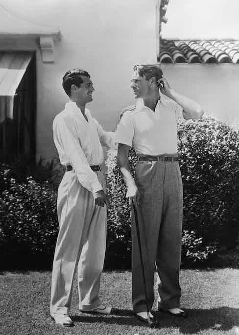 Cary Grant with Randolph Scott