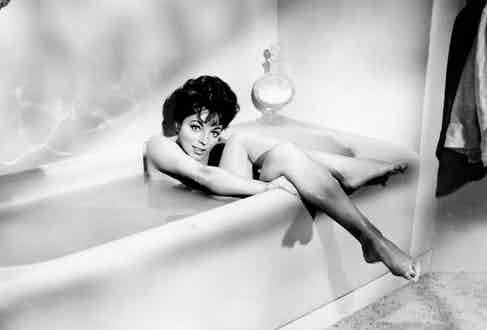 Joan Collins, on-set of the Film, 'Rally Round the Flag Boys', 1958. Photo by Images/REX Shutterstock.