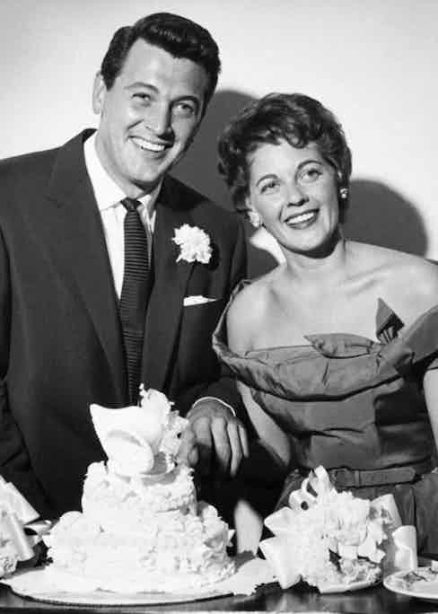 Rock Hudson's bride, Phyllis Gates
