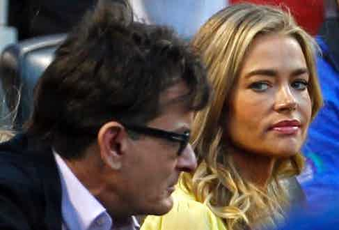 Charlie Sheen with now ex-wife Denise Richards