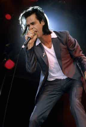Nick Cave performing in Australia. Photo by Bob King/Redferns.
