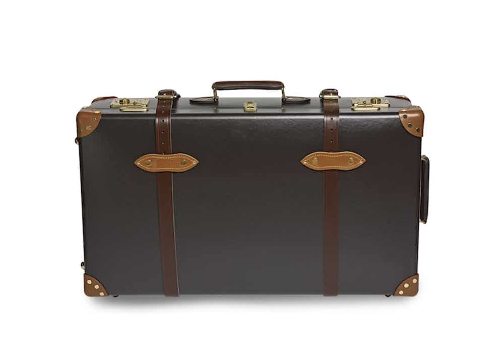 "Exclusive 30"" Extra Deep Suitcase Lined In Fox Flannel, in collaboration with Globe-Trotter."