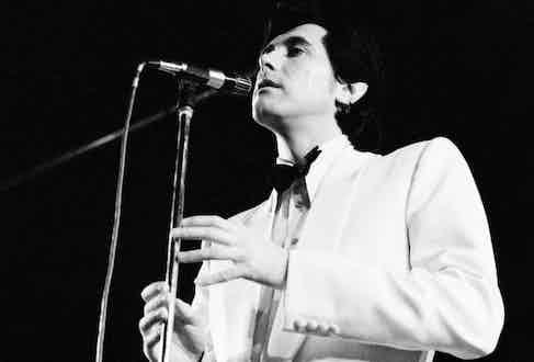 Performing on stage in November 1973 in Copenhagen, Denmark. Photo by Jorgen Angel/Redferns.