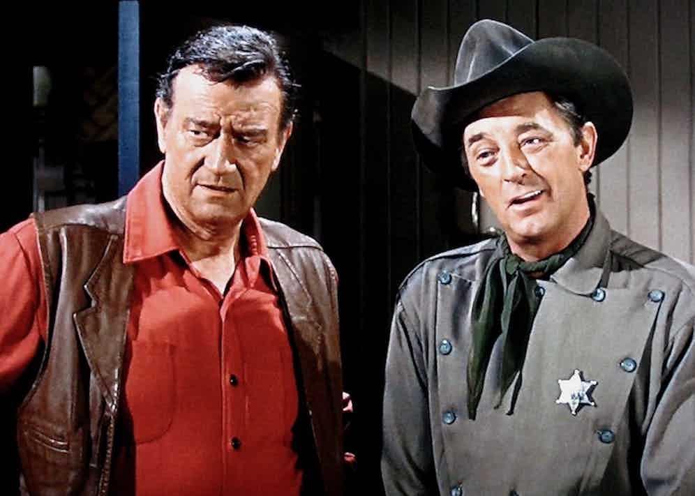 John Wayne in El Dorado, 1967. The wig he wore for the film was auctioned in 2010 by Bonhams.
