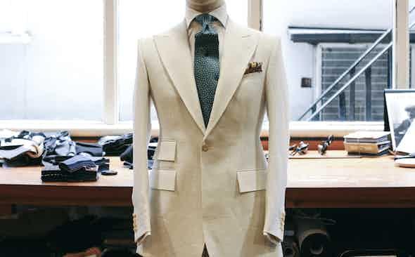 The Impractical Choice: Chittleborough & Morgan White Linen Suit