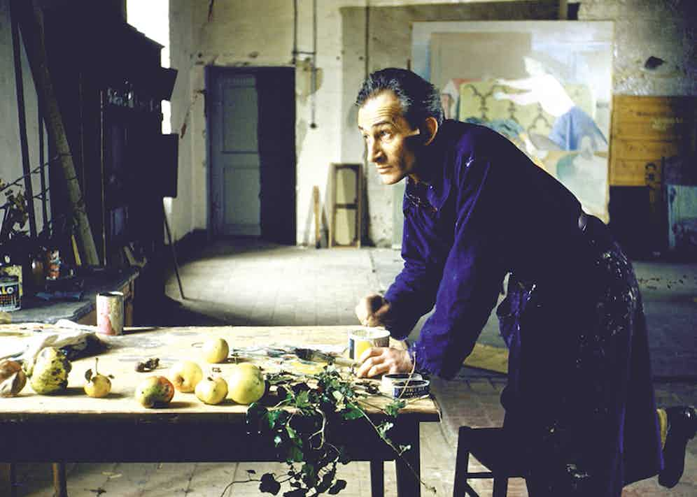Painter Balthus at work in his studio in the Chateau de Chassy. Photo by Loomis Dean/The LIFE Picture Collection/Getty Images.
