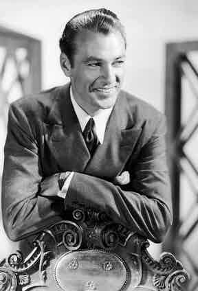 American film actor Gary Cooper, 1934. Photo by Imagno/Getty Images.
