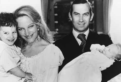 Prince Michael of Kent, his wife Marie-Christine and their children, Lord Frederick Windsor and Lady Gabriella born on April 23, 1981.