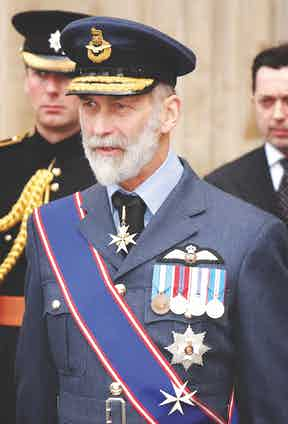 Prince Michael Of Kent attends a Service Of Dedication and Thanksgiving for the Royal Air Force Coastal Command at Westminster Abbey. Photo by Mark Cuthbert/UK Press via Getty Images.