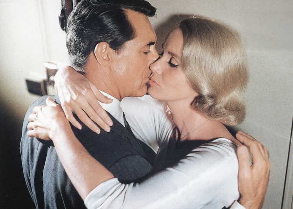 Cary Grant with Eva Marie Saint in North by North West, 1959.