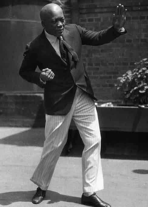 Jack Johnson, heavyweight boxer.