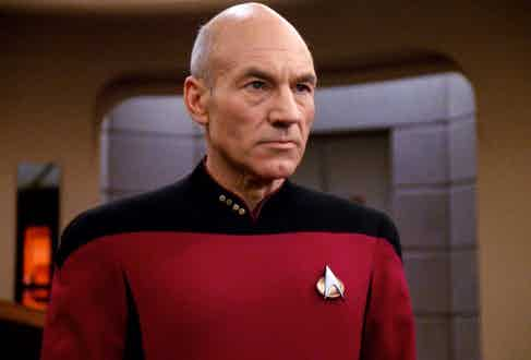 Patrick Stewart in Star Trek.