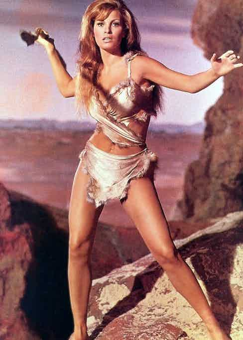 Racquel Welch in One Million Years BC, 1996.