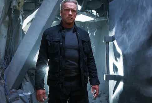 Arnold Schwarzenegger in Terminator Genisys, 2015.