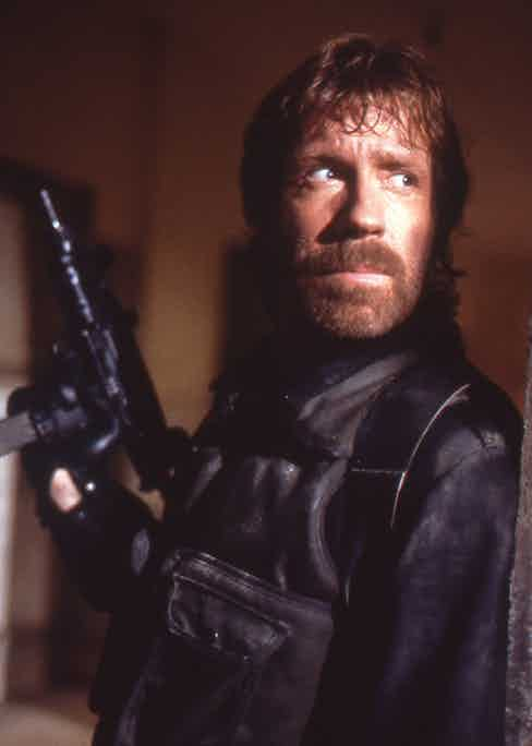 Chuck Norris in The Delta Force, 1986.