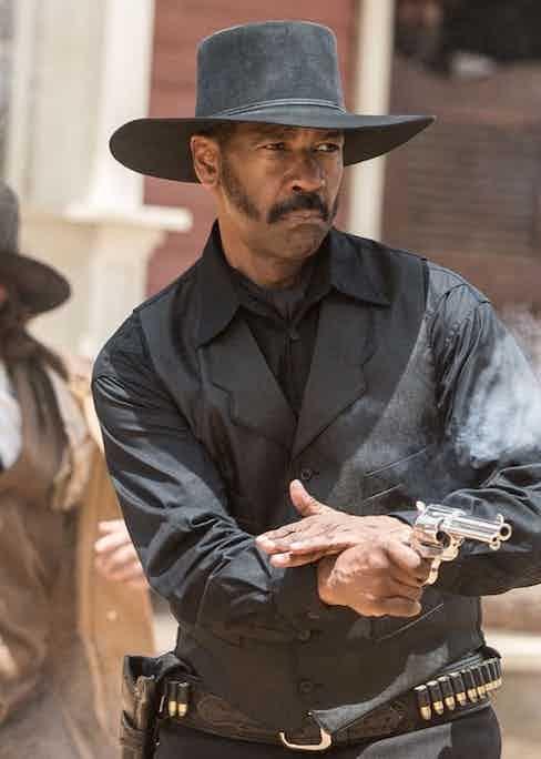 Denzel Washington in The Magnificent Seven, 2016.