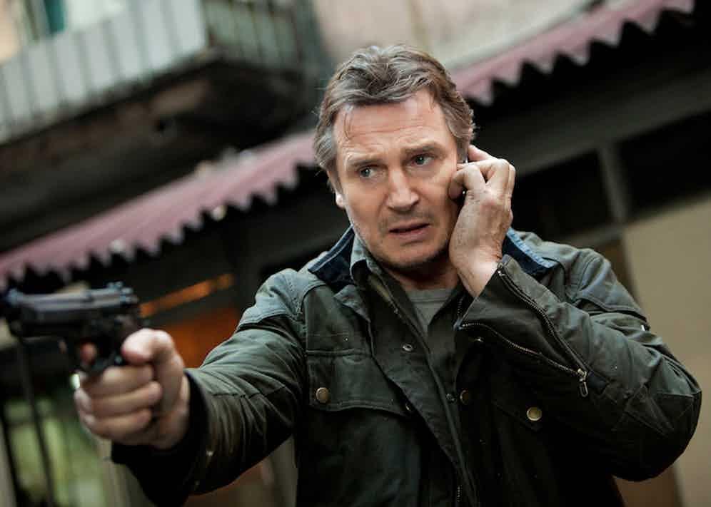 Liam Neeson in Taken 2, 2012.