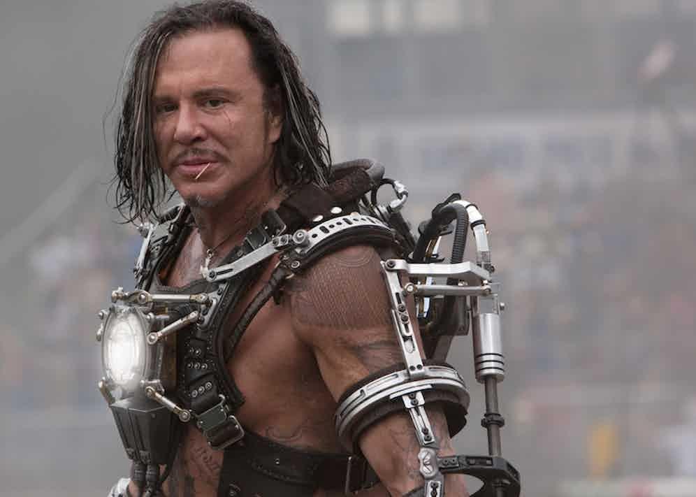 Mickey Rourke in Iron Man 3, 2013.