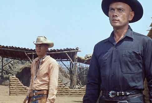 Yul Brynner and Steve McQueen in The Magnificent Seven, 1960.