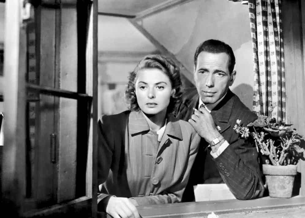 Humphrey Bogart in Casablanca, 1942.
