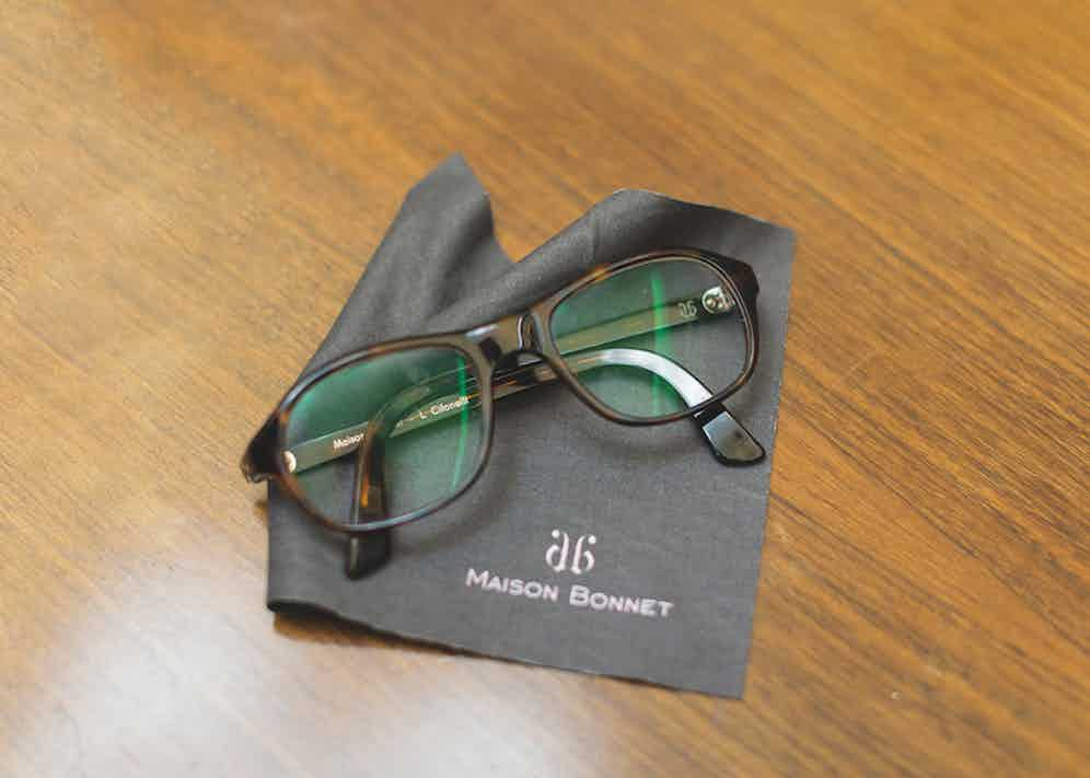 """Eyewear legend Maison Bonnet has created these made-to-measure frames with Lorenzo's name engraved into them. """"I would recommend Maison Bonnet to anybody,"""" he says."""