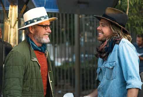 Bernard with son, Nick. Photograph by Robert Spangle.