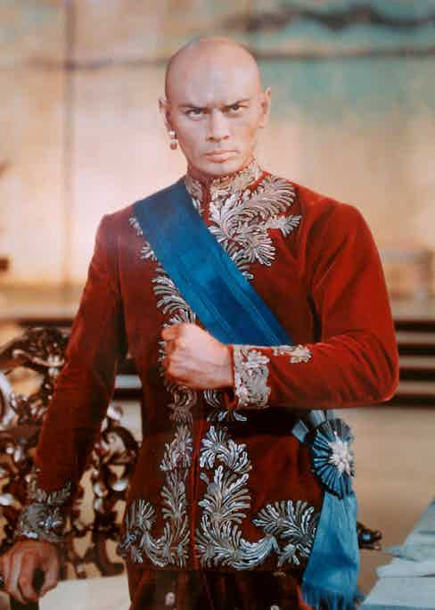 Yul Brynner in The King and I, 1956.