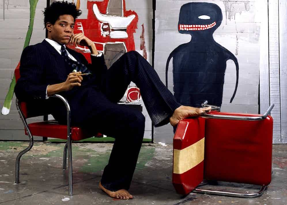 Photo of Jean-Michel Basquiat that was the cover of The New York Times Magazine circa February 1985.