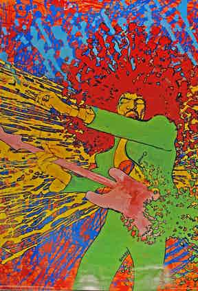 Jimi Hendrix poster, 1968.