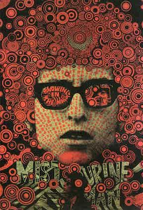Mr Tambourine Man Bob Dylan poster, 1967.