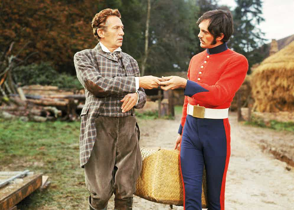 Peter Finch and Terence Stamp in Far From The Madding Crowd, 1967.  Photo by Everett Collection / Rex Features.