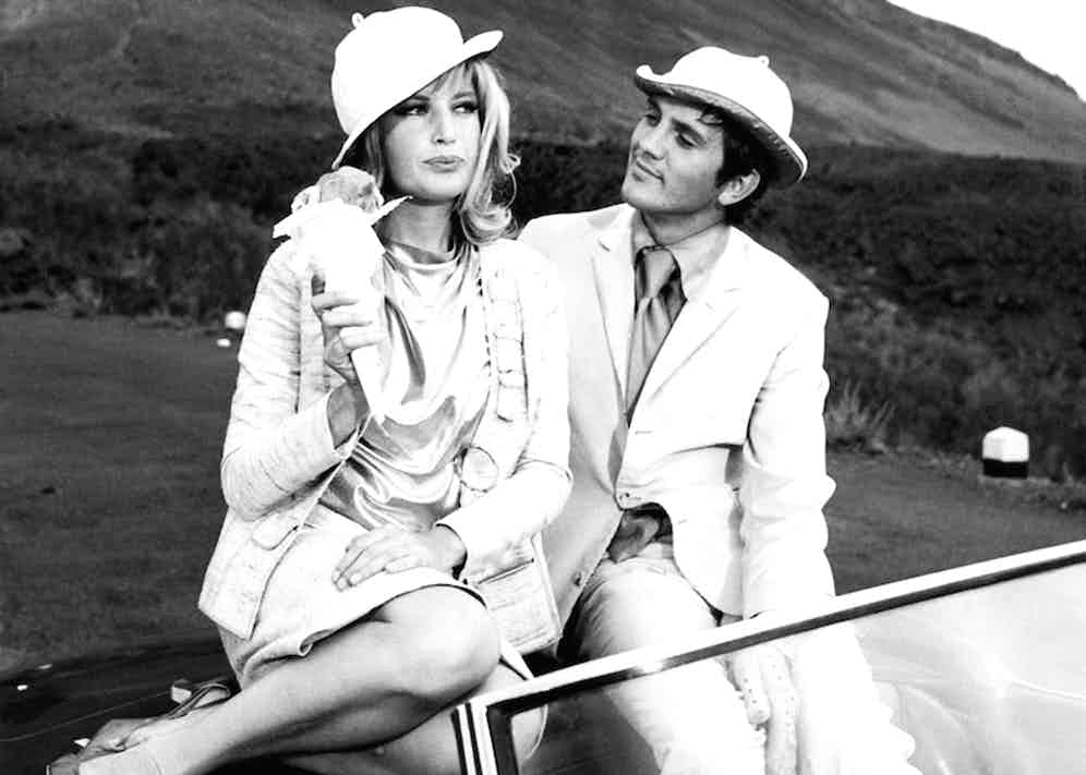 Monica Vitti and Terence Stamp in Modesty Blaise, 1966. Photo by Moviestore Collection / Rex Features.