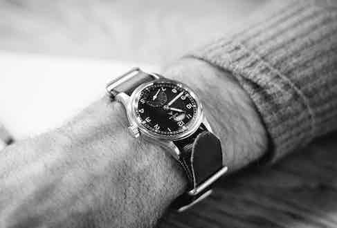 """Rogers' family has always had a huge impact on his creativity. """"My watch is my Grandad's Omega, it's a military watch. They made three of these; Omega, Rolex and IWC, the same year. My sister has the Rolex. I love the strap."""" Having grown up in a family of musicians and performers, Adam always felt free to explore his own creative outlet and with a grandfather who acquired """"a lot of watches, beautiful cars and a Triumph motorbike"""", he is almost genetically predisposed to enjoy the finer things in life."""