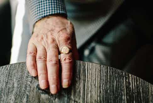 As with most signet rings, George's holds a special meaning. Passed on from his father, he inherited both his name and his jewellery from George Snr. He talks in at length about his father's role in the military during the second World War, and his fascination with history matches his obsession with detail.