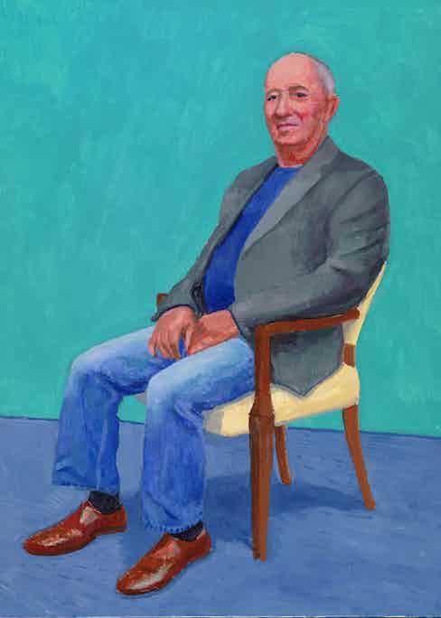 "David Hockney ""David Juda, 22-25 March"" 2015 Acrylic on canvas 48 x 36"" © David Hockney Photo Credit: Richard Schmidt"